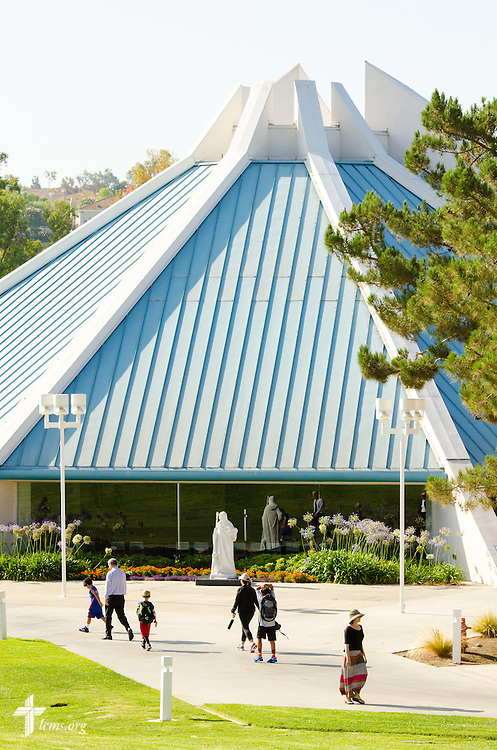Visitors walk past the CU Center at Concordia University Irvine on Wednesday, July 9, 2014, in Irvine, Calif. LCMS Communications/Erik M. Lunsford