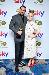 Danny Dyer and Kellie Bright attending the TRIC Awards 2019 50th Birthday Celebration held at the Grosvenor House Hotel, London.