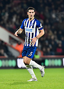 Lewis Dunk (5) of Brighton and Hove Albion during the Premier League match between Bournemouth and Brighton and Hove Albion at the Vitality Stadium, Bournemouth, England on 21 January 2020.