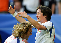 Jubel 0:3 Pavel Nedved, Tomas Rosicky Tschechien<br />