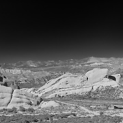 Mormon Rocks And Cajon Pass - Elevated North View - Infrared Black & White