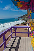 LT1, Lifeguard Tower, Topanga,  CA, Vertical, Socal Beach, Lifeguard Stations, CA, Geometric, shapes, Lifeguard Towers, Portraits of Hope, Summer of Color exhibit, The flower, beauty, core design, elements, design theme, environment, symbol of joy, universal, youth