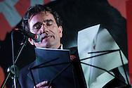 Elezioni europee. Campagna elettorale della lista Tsipras. Comizio a Milano, 10 maggio 2014. Alfredo Somoza.