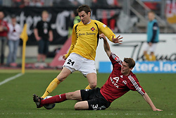2. DBL 2009, 26. Spieltag Rueckrunde, 1. FC Nuernberg vs TuS Koblenz 1911, im Bild Stefan Reinartz (1. FC Nuernberg #3) im Zweikampf mit Goran Sukalo (TuS Koblenz 1911 #21), EXPA Pictures © 2009 for Austria only, Photographer EXPA/ NPH Becher/ SPORTIDA PHOTO AGENCY