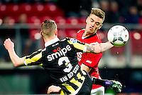 ALKMAAR - 06-02-2016, AZ - Vitesse, AFAS Stadion, Vitesse speler Maikel van der Werff, AZ speler Markus Henriksen