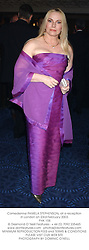 Comedienne PAMELA STEPHENSON, at a reception in London on 23rd February 2003.<br />PHK 158