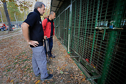 ROMANIA ZARNESTI 27OCT12 - Liviu Cioineag, general manager (R) and Victor Watkins, WSPA wildlife consultant at the Zarnesti Bear Sanctuary in Romania, funded by WSPA...With over 160 acres (70 hectares) spread over a wooded hillside, it is Romania's first bear sanctuary and today houses 67 bears rescued from ramshackle zoos and cages at roadside restaurants.......jre/Photo by Jiri Rezac / WSPA..© Jiri Rezac 2012