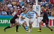 Gloucester, Great Britain, Argentina Wing, Santiago CORDERO, running with the ball during the Argentina vs Georgia, Pool C. game. 2015 Rugby World Cup, Venue. Kingsholm Stadium. England, Friday - 25/09/2015 <br /> [Mandatory Credit; Peter Spurrier/Intersport-images]