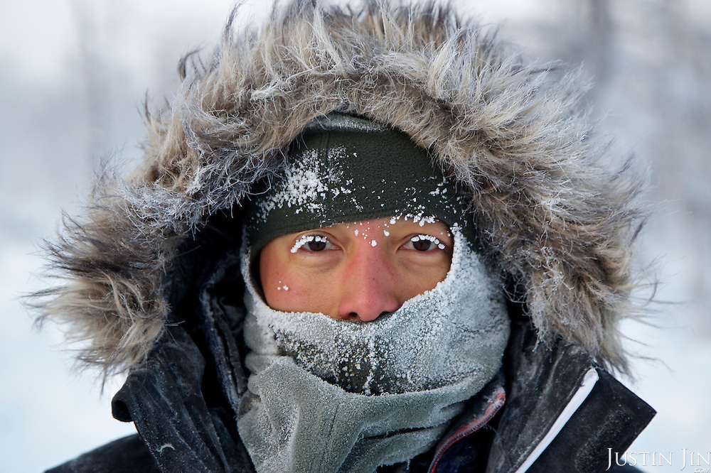 Photographer Justin Jin at Achimgaz in Novy Urengoi, Arctic Siberia, Russia.