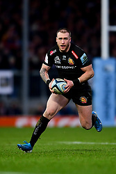 Stuart Hogg of Exeter Chiefs makes a break - Mandatory by-line: Ryan Hiscott/JMP - 29/12/2019 - RUGBY - Sandy Park - Exeter, England - Exeter Chiefs v Saracens - Gallagher Premiership Rugby