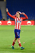 Forward Antoine Griezmann of Atletico de Madrid celebrates the victory after the UEFA Europa League, Final football match between Olympique de Marseille and Atletico de Madrid on May 16, 2018 at Groupama Stadium in Decines-Charpieu near Lyon, France - Photo Jean-Marie Hervio / ProSportsImages / DPPI