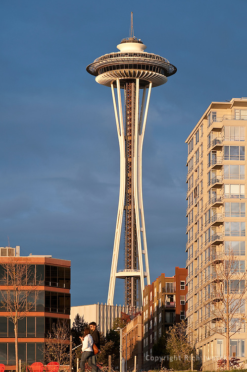 View of the Space Needle building, Seattle, Washington