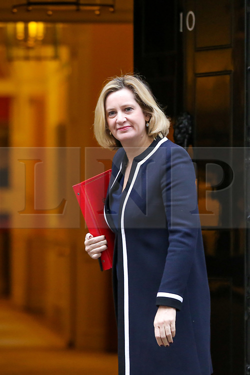 © Licensed to London News Pictures. 05/02/2019, London, UK Amber Rudd - Secretary of State for Work and Pensions arrives in Downing Street for the weekly Cabinet meeting. Photo credit: Dinendra Haria/LNP