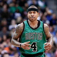 10 March 2017: Boston Celtics guard Isaiah Thomas (4) is seen during the Denver Nuggets 119-99 victory over the Boston Celtics, at the Pepsi Center, Denver, Colorado, USA.
