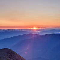 Sunrise from Mt Washington NH. Image size 20x24