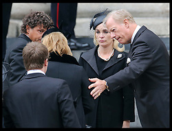 Sir Mark Thatcher and the rest of the family of  Baroness Thatcher arriving at  St.Paul's Cathedral in London at the start of her funeral Wednesday 17th  April 2013 Photo by: Stephen Lock / i-Images