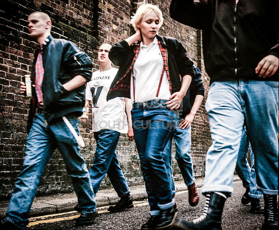 Skinhead Girl, High Wycombe, UK, 1980s.