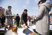 Group Wedding For Pet Dogs In Beijing<br /> <br /> Group wedding for pet dogs gets held at Purple Jade Villa on April 12, 2015 in Beijing, China. 21 couples of pets attended wedding ceremony together at Purple Jade Villa in Beijing on Sunday.<br /> ©Exclusivepix Media