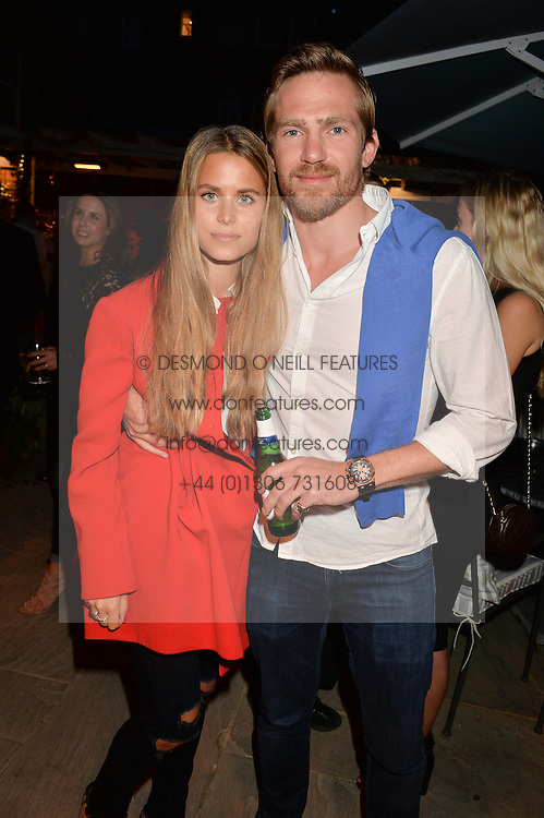 PICTURE SHOWS:-IRENE FORTE and JACOBI ANSTRUTHER-GOUGH-CALTHORPE.<br /> Tuesday 14th April 2015 saw a host of London influencers and VIP faces gather together to celebrate the launch of The Ivy Chelsea Garden. Live entertainment was provided by jazz-trio The Blind Tigers, whilst guests enjoyed Mo&euml;t &amp; Chandon Champagne, alongside a series of delicious canap&eacute;s created by the restaurant&rsquo;s Executive Chef, Sean Burbidge.<br /> The evening showcased The Ivy Chelsea Garden to two hundred VIPs and Chelsea<br /> residents, inviting guests to preview the restaurant and gardens which marry<br /> approachable sophistication and familiar luxury with an underlying feeling of glamour and theatre. The Ivy Chelsea Garden&rsquo;s interiors have been designed by Martin Brudnizki Design Studio, and cleverly combine vintage with luxury, resulting in a space that is both alluring and down-to-earth.
