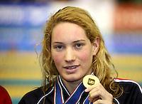 Camille MUFFAT -  200m quatre nages - 13.12.2007 - Championnats d'Europe en petit bassin 2007 - Debrecen <br />Photo : Diener / Icon Sport