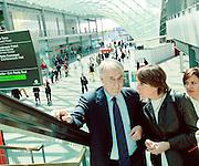 Milano, il sindaco Giuliano Pisapia: in fiera al Salone del mobile con la moglie Cinzia Sasso.