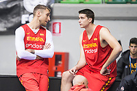 Javi Vega and Victor Arteaga during training session of Spain national team before european qualifiers to World Cup 2019 at Coliseum Burgos in Madrid, Spain. November 26, 2017. (ALTERPHOTOS/Borja B.Hojas)