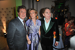 Left to right, MICHAEL CRAWFORD and ANDREW & MADELEINE LLOYD WEBBER at the press night of the new Andrew Lloyd Webber  musical 'The Wizard of Oz' at The London Palladium, Argylle Street, London on 1st March 2011 followed by an aftershow party at One Marylebone, London NW1