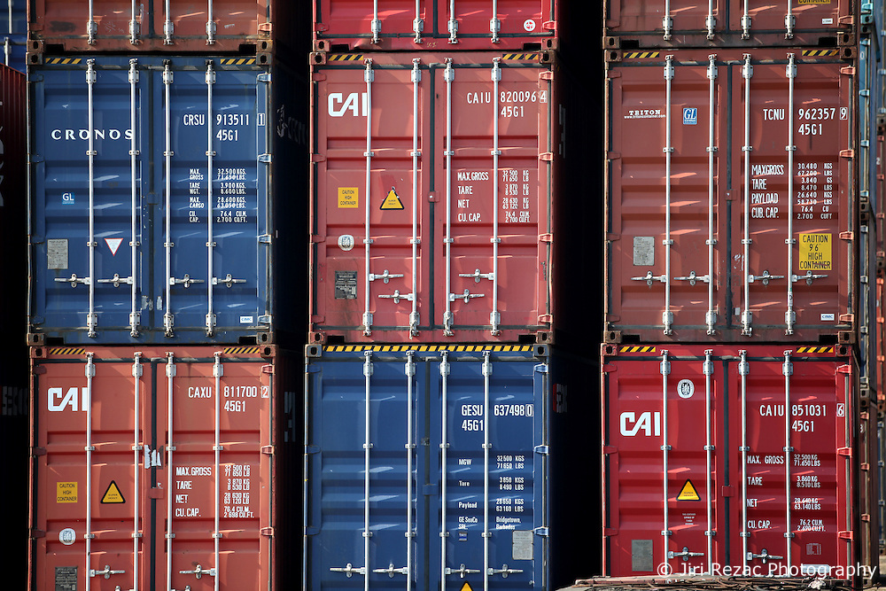SRI LANKA COLOMBO 19MAR13 - Stacked containers at the container terminal in the port of Colombo, Sri Lanka. Colombo is the largest city and the commercial, industrial and cultural capital of Sri Lanka with a population of about 750,000 inhabitants.<br /> <br /> jre/Photo by Jiri Rezac<br /> <br /> © Jiri Rezac 2013