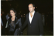 Bianca Jagger and Tom Ford. British Council party for Mark Wallinger hosted by Bloomberg. Isola Lazzaretto Nuovo. Venice. 8 June 2001. © Copyright Photograph by Dafydd Jones 66 Stockwell Park Rd. London SW9 0DA Tel 020 7733 0108 www.dafjones.com