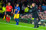 Brendan Rogers, manager of Celtic FC during the Europa League group stage match between Celtic and RP Leipzig at Celtic Park, Glasgow, Scotland on 8 November 2018.