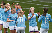 Manchester City Women's forward Ellen White (18) celebrates her goal during the FA Women's Super League match between Manchester City Women and West Ham United Women at the Sport City Academy Stadium, Manchester, United Kingdom on 17 November 2019.