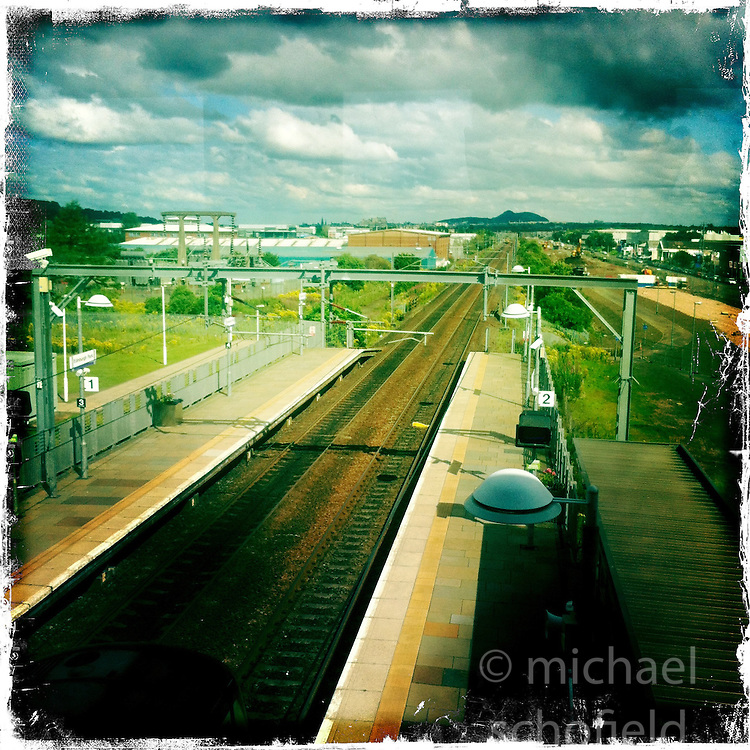 Gyle station..Hipstamatic images taken on an Apple iPhone..©Michael Schofield.