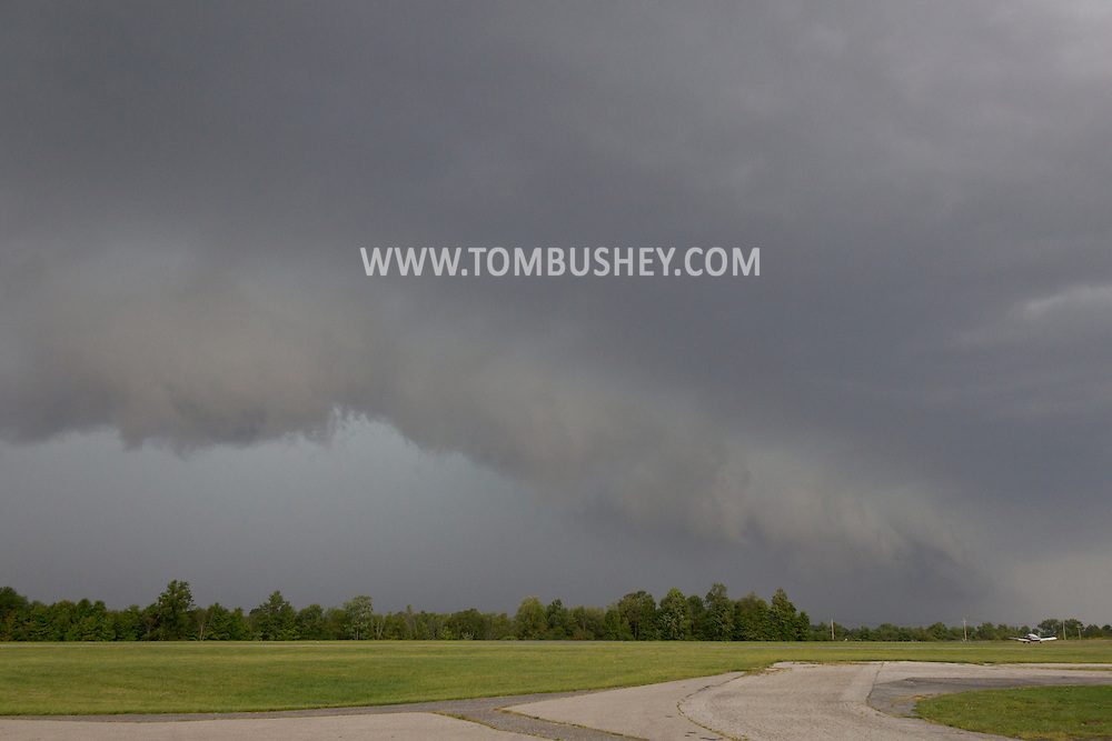 Middletown, New York - Storm clouds as a front approaches on Sept. 8, 2012.