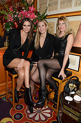 Left to right, SASHA VOLKOVA, LAURA BARDIGER and MEREDITH OSTROM at Tatler Magazine's Little Black Book Party held at Annabel's, Berkeley Square, London on 5th November 2013.