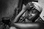 Zanzibar Town, Zanzibar -   2015-03-24  - Sandra cooking in Malaika Sober House for women in Zanzibar Town, Zanzibar on March 24, 2015.  Photo by Daniel Hayduk