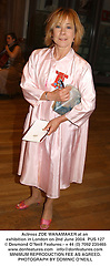 LActress ZOE WANAMAKER at an exhibition in London on 2nd June 2004.PUS 127