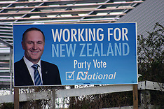 Auckland-Politcal billboards return as election approaches