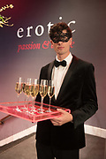 MASKED, WAITER, Sotheby's Erotic sale cocktail party, Sothebys. London. 14 February 2018