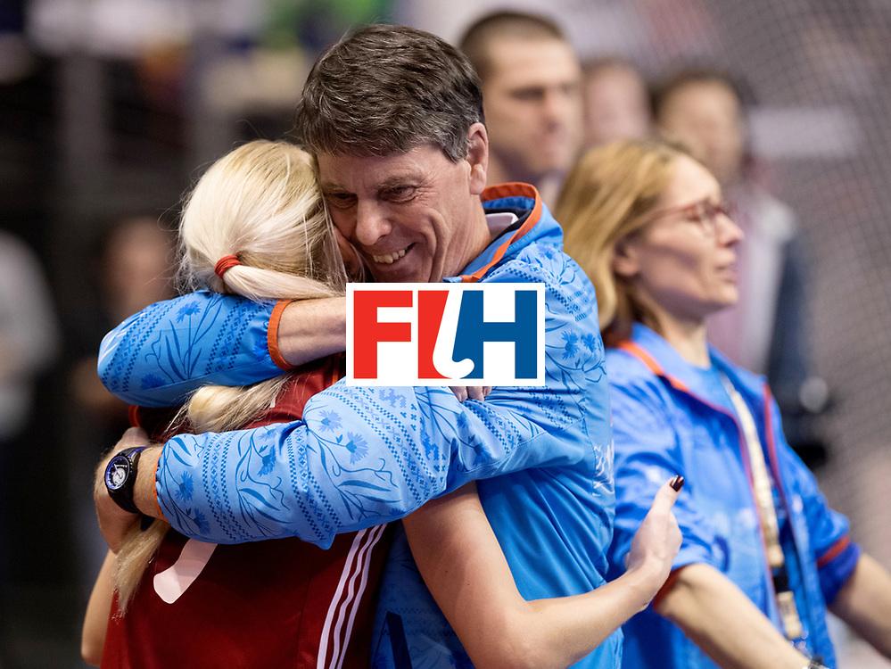 BERLIN - Indoor Hockey World Cup<br /> Bronze: Ukraine - Belarus<br /> foto: Herman Kruis.<br /> WORLDSPORTPICS COPYRIGHT FRANK UIJLENBROEK