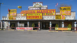 Continental Divide in New Mexico USA. Along the Historic US Route 66 Roadway.