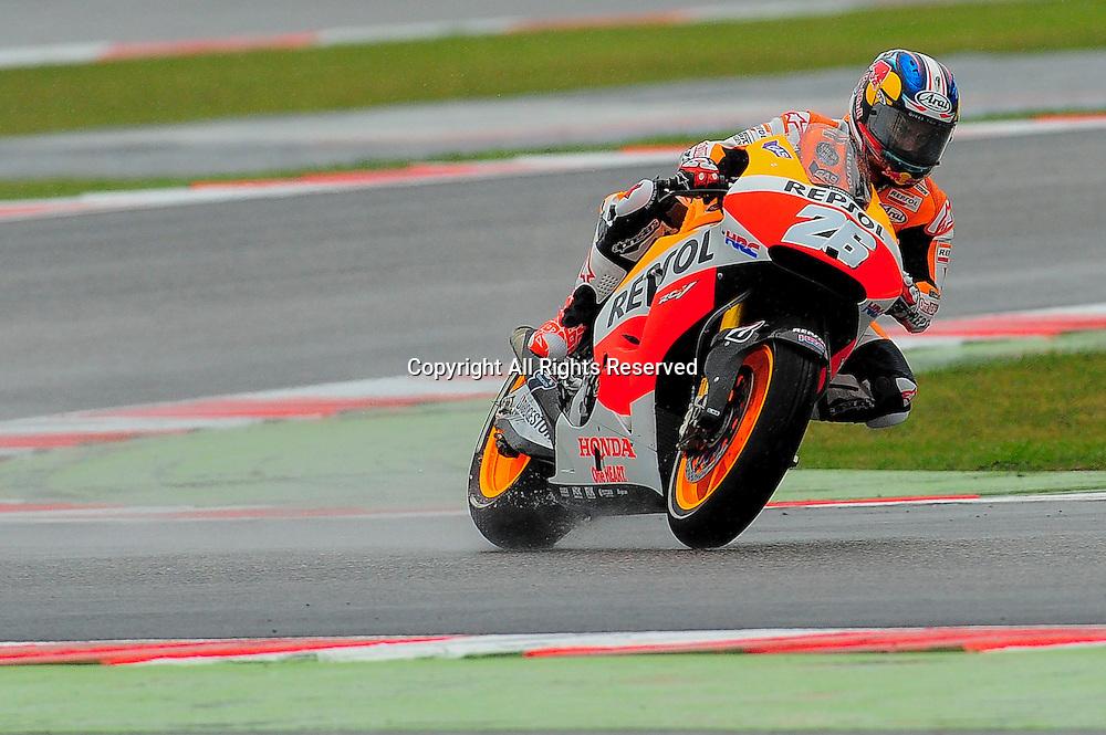 12.09.2014. Misano Adriatico Rimini, Italy. San Marino. MotoGP. San Marino Grand Prix Practice.  Dani Pedrosa (repsol Honda) during the freepractice sessions.