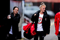 Olivia Chance and Jasmine Matthews arrives at Ashton Gate prior to kick off  - Mandatory by-line: Ryan Hiscott/JMP - 07/09/2019 - FOOTBALL - Ashton Gate - Bristol, England - Bristol City Women v Brighton and Hove Albion Women - FA Women's Super League