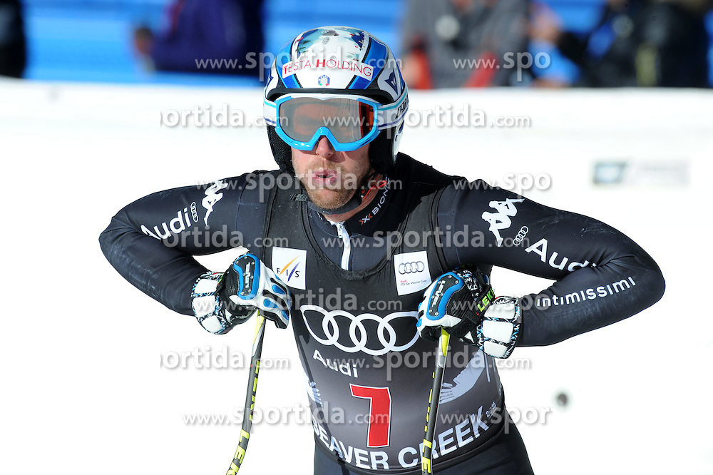 02.12.2014, Birds of Prey Course, Beaver Creek, USA, FIS Weltcup Ski Alpin, Beaver Creek, Herren, Abfahrt, 1. Training, im Bild Werner Heel (ITA) // Werner Heel of Italy reacts during the men's Downhill 1st practice run of FIS Ski World Cup at the Birds of Prey Course in Beaver Creek, United States on 2014/12/02. EXPA Pictures © 2014, PhotoCredit: EXPA/ Erich Spiess