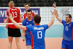 20170525 NED: 2018 FIVB Volleyball World Championship qualification, Koog aan de Zaan<br />Emanuel Kohut (3) of Slovakia, Juraj Zatko (15) of Slovakia <br />©2017-FotoHoogendoorn.nl / Pim Waslander