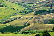 Sunny landscapes in the Molise countryside in  southern Italy.