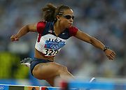 Joanna Hayes of the United States won the women's 100-meter hurdles in an Olympic record 12.37 in the 2004 Olympics in Athens, Greece on Tuesday, August 24, 2004.