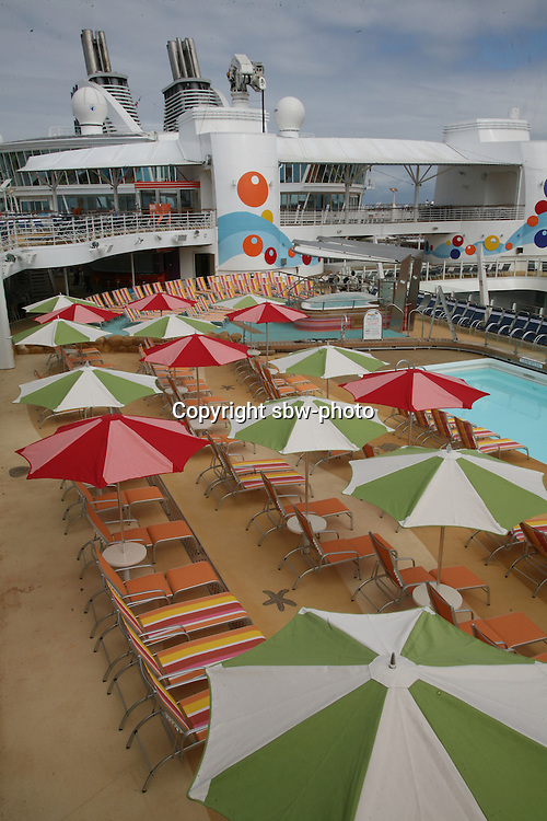 The launch of Royal Caribbean International's Oasis of the Seas, the worlds largest cruise ship..The Beach Pool area