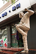 Life size sculpture of signer Michael Jackson in Beijing, China