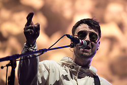 © Licensed to London News Pictures . 27/05/2017 . Manchester , UK . LIAM FRAY on stage during the Courteeners' set . Manchester music line up , featuring Courteeners , Charlatans , Blossoms and Cabbage , at the Emirates Old Trafford Stadium . Photo credit : Joel Goodman/LNP