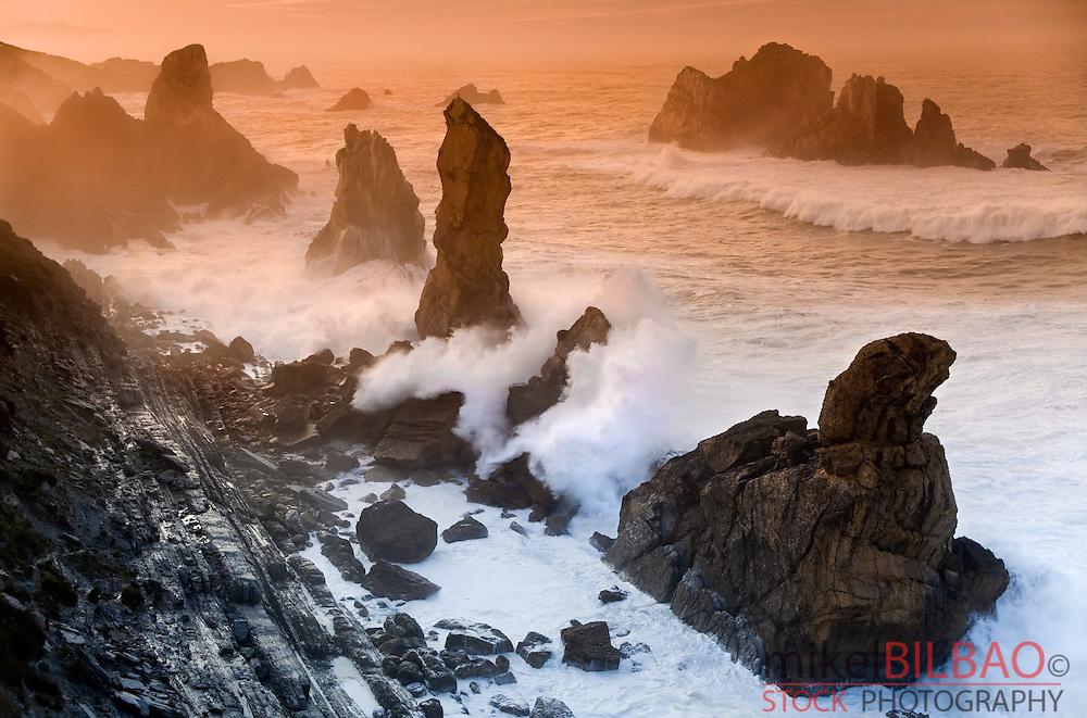 Coastal cliffs. Liencres, Cantabria, Spain
